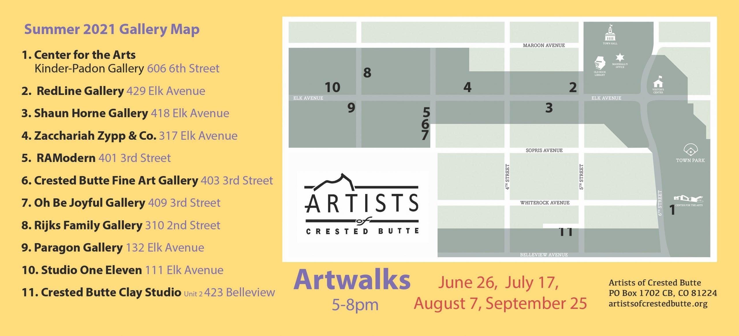 ArtWalk Summer Map